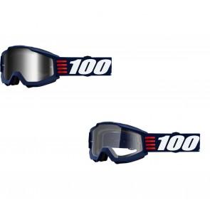 100% Accuri Brille Art Deco Klar / Verspiegelt