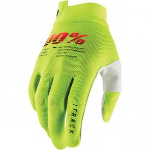100% Handschuhe I-Track Neongelb