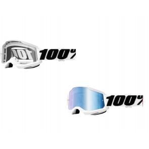 100% Strata 2 Brille Everest Klar / Blau verspiegelt