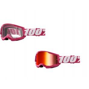 100% Strata 2 Brille Fletcher Klar / Rot verspiegelt