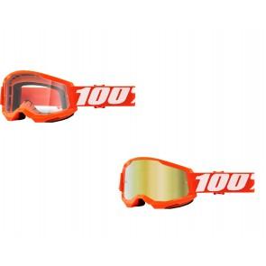 100% Strata 2 Brille Orange Klar / Gold verspiegelt