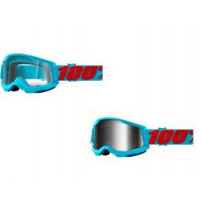 100% Strata 2 Brille Summit Klar / Silber verspiegelt