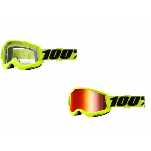 100% Strata 2 Brille Yellow Klar / Rot verspiegelt