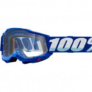 100% Brille Accuri 2 Reflex Blue KLAR OTG für Brillenträger