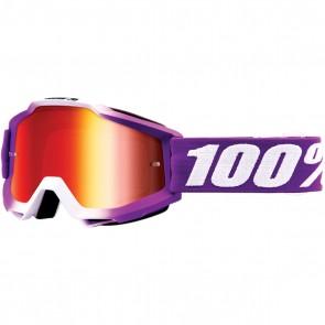 100% Accuri Brille Framboise Rot Verspiegelt