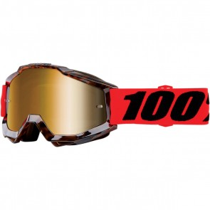 100% Accuri Brille Vendom Gold Verspiegelt
