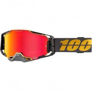 100% Armega Brille Falcon 5 Verspiegelt Rot