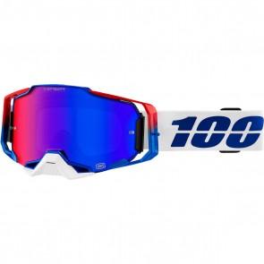 100% Armega Brille Hiper Verspiegelt Blau