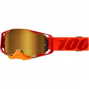 100% Armega Brille Litkit Verspiegelt Gold