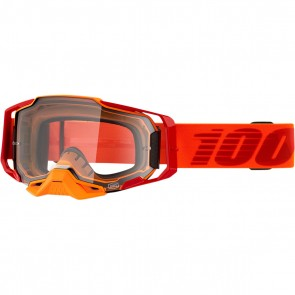 100% Armega Brille Litkit Orange - Rot Klares Glas