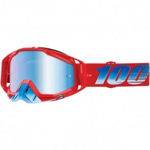 100% Racecraft Brille Kuriakin, Blau verspiegelt