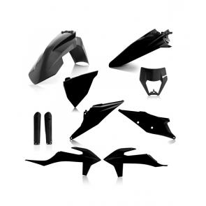 Acerbis Full Plastik Kit Schwarz KTM EXC EXC-F TPI 125, 150, 250, 300, 350, 450, 500 2020-