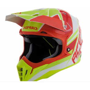 Acerbis Impact 3.0 Helm Rot, Neon Gelb