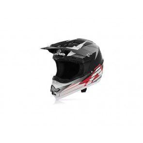 Acerbis Profile Helm Schwarz - Grau - Weiß