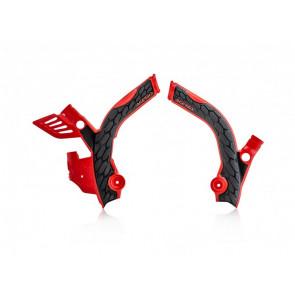 Acerbis X-Grip Rahmenschützer Schwarz Rot Beta RR 125, 250, 300, 350, 400, 450, 480 2020-