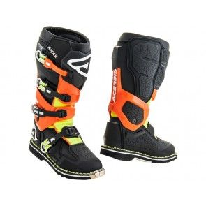 Acerbis X-Rock Stiefel Schwarz / Orange