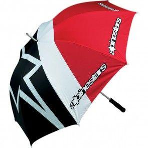 Alpinestars Regenschirm Schwarz Weiß Rot