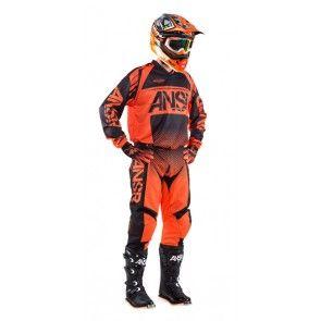 Answer Syncron Combo (Hose + Jersey) Orange Schwarz 34/XL