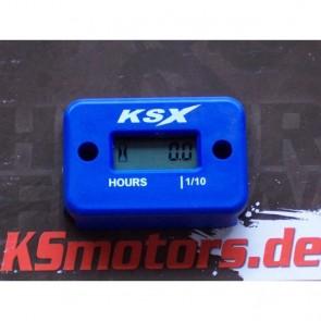 KSX Betriebsstundenzähler Blau