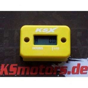 KSX Betriebsstundenzähler Gelb