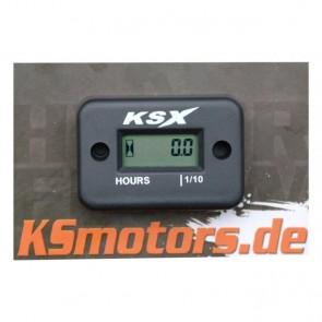 KSX Betriebsstundenzähler Schwarz