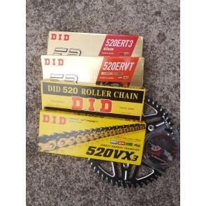 DID ERT3 / ERVT/ VX3 / 520S Kettenkit KTM SX, SX-F, EXC, TPI 125, 200, 250, 300, 350, 400, 500, 520, 525, 530