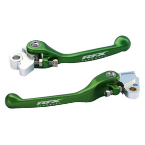 Flex Brems- Kupplungshebel Set Grün Kawasaki KX 65, 85, 125, 250 2000-