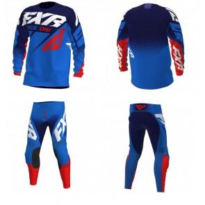 FXR Clutch Combo (Hose + Shirt) Blau Navy Rot