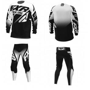 FXR Clutch Combo (Hose + Shirt) Schwarz Weiß