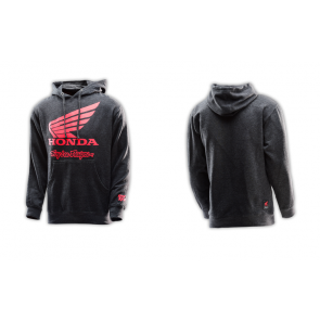 TLD Troy Lee Designs Honda Wing Pullover Charcoal