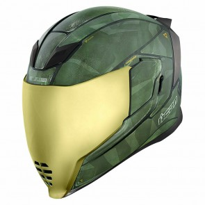 Icon Airflite Battlescar 2 Integralhelm Grün Matt
