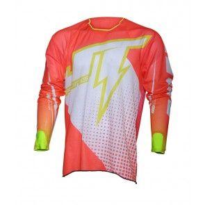 JT Racing Hyperlite Voltage Shirt Weiß / Gelb / Rot