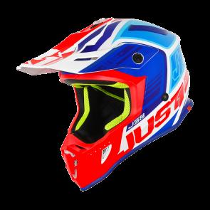 Just1 J38 Motocross Enduro Helm Blade Blau Rot Weiß
