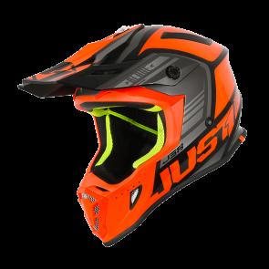 Just1 J38 Motocross Enduro Helm Blade Orange - Schwarz