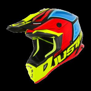 Just1 J38 Motocross Enduro Helm Blade Schwarz Gelb Rot