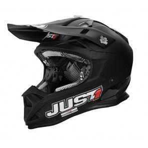 Just1 Motocross Enduro Helm J32 Solid Black Mattschwarz