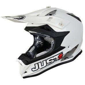 Just1 Motocross Enduro Helm J32 Solid White