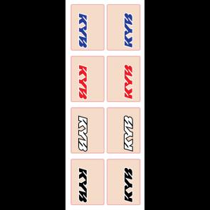 Gabelaufkleber Kayaba Schwarz / Weiss / Rot / Blau