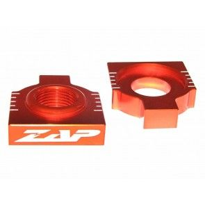 Kettenspanner Achsblöcke Orange KTM EXC 125, 200, 250, 300, 350, 400, 450, 525, 530 1998- / SX, SXF 1998-2012