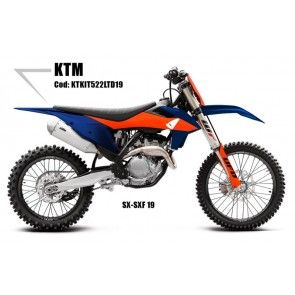 UFO Plastik Kit LTD KTM SX, SXF 125, 150, 250, 350, 450 2019- Blau - Orange