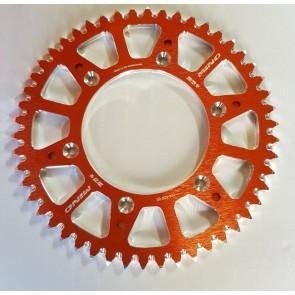 Mino Aluminium Kettenrad Orange 51 Zähne