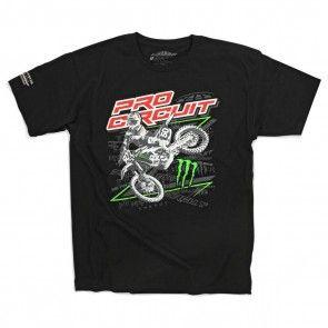 Monster Energy Pro Circuit T-Shirt Sideways Schwarz