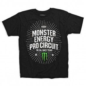 Monster Energy Pro Circuit T-Shirt Kudos Schwarz