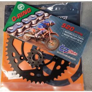 Moose Racing O-Ring Stahl Kettenkit Kawasaki KX, KXF 125, 250, 450