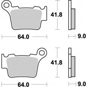 Moto-Master Bremsbeläge Nitro Hinten KTM SX, SXF 2003- / EXC 2004- / Husqvarna 2014-