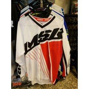 MSR Cross Shirt Schwarz Weiß Rot L
