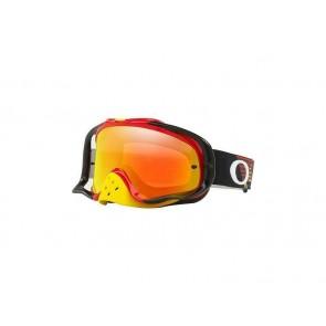 Oakley Crowbar Circuit Brille Schwarz Rot mit Iridium Glas