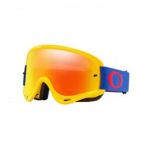 Oakley O-Frame Brille Gelb Blau Iridium Glas