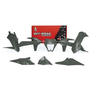 KTM Plastik Kit mit Lampenmaske Grau EXC, EXC-F TPI 250, 300, 350, 450, 500 2020-