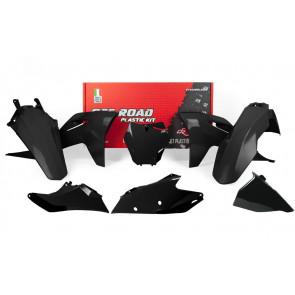 Racetech Plastik Kit Schwarz GasGas MC, MC-F 125, 150, 250, 350, 450 2021-